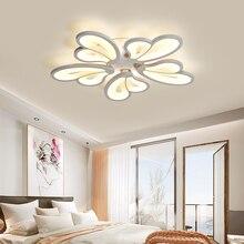 купить Modern Iron Acrylic Flower Creative Led Room Hanging Light Ceiling Lamp House Lighting Fixture 100V 230V For Teens Girls Bedroom по цене 4521.41 рублей