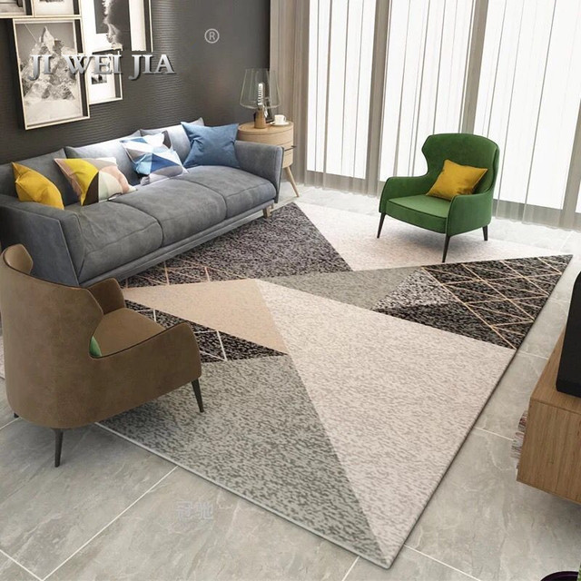 Nordic Style Geometric Carpet Living Room Rug Sofa Coffee Table Door