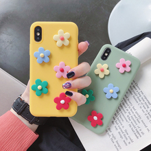 matte 3d candy color flower case for Huawei honor 7a 7c pro 9i v9 play v10 view 10 8 9 lite 7s 20 6x silicone back cover fundas