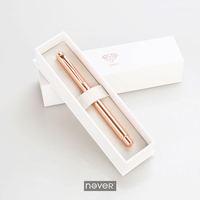 Never Rose Gold Edition Gel Ink Pen Matel Black Ink Pen 0 5mm High Quality Business