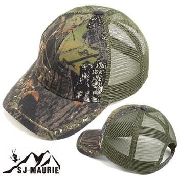 86ea3060fcaee Hombre militar caza de camuflaje gorra ajustable de combate del ejército  sombrero sol protección pesca gorras de béisbol de sombrero gorra multicam