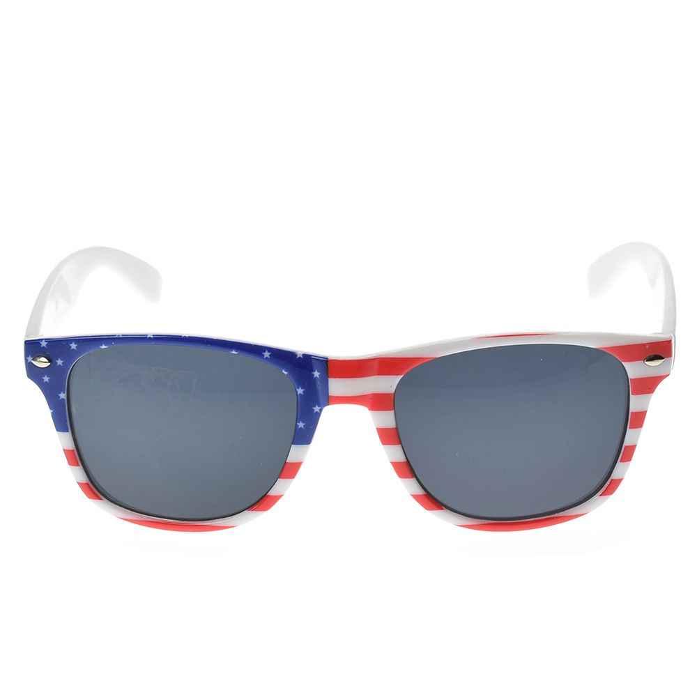 W wielkiej brytanii flaga USA okulary przeciwsłoneczne w stylu Vintage z nami patriotyczne stany zjednoczone gwiazdy paskiem nowy samochód stylizacji jazdy samochodem