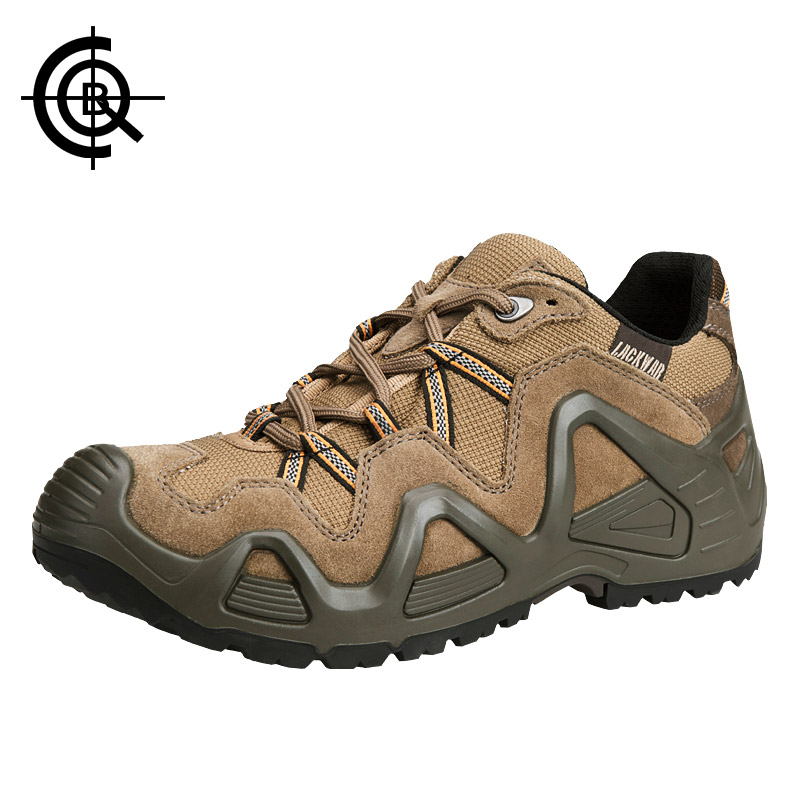 CQB Outdoor Hiking Shoes Men Mountain Power Low Trekking Shoes Wear-resistant Hot Melt Glue Walking Hunting Shoes  LXZ0063