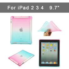 Gradient Case for iPad 2 3 4 Soft Back slim TPU shell Cover 2/3/4 Protective 9.7