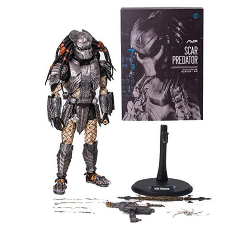 AVP Scar Predator MMS190 Action Figures Model C 1 6 Scale Pre Painted Toys 32cm