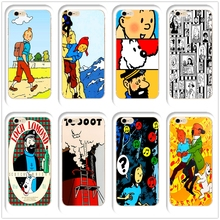 DK The Adventures of Tintin Anti-war fashion phone Case Cover for Hard Transparen for iPhone 6 6s 7 8plus 5s 5c 4s X XS XR XSMAX 1x the adventures of tintin figure set destination moon new