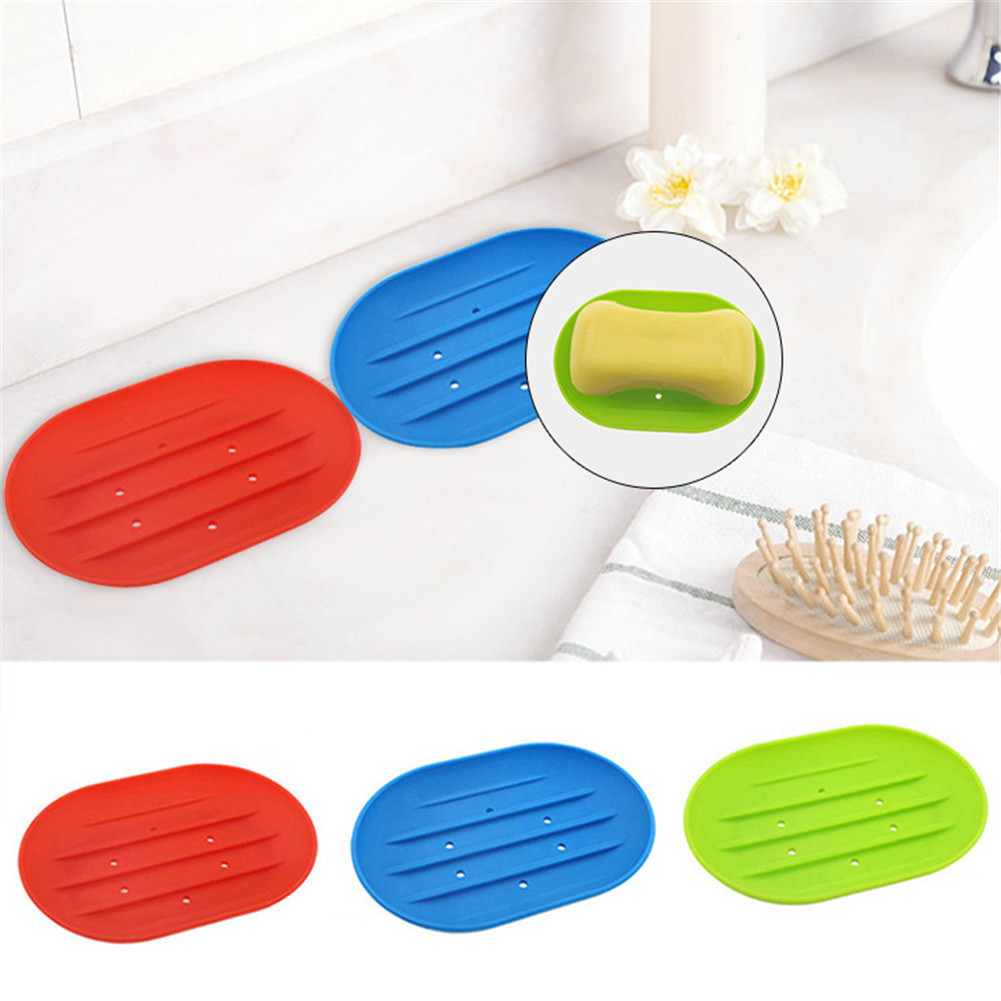 LeKing Water Drain Soap Holder Dish Kitchen Tools Bathroom Accessories Soap Dish Storage Basket Soap Box Stand 3 Colors
