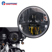 Motorcycle headlamp 7 INCH 40W LED Headlights Hi/Lo Beam Bulb For Harley Electra Glide Street Glide Road King