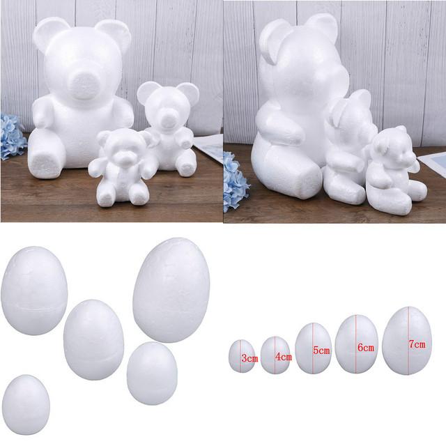 Modelowanie styropianowe kulki z pianki niedźwiedź jajko białe kulki rzemiosła dla majsterkowiczów Christmas Party materiały dekoracyjne prezenty