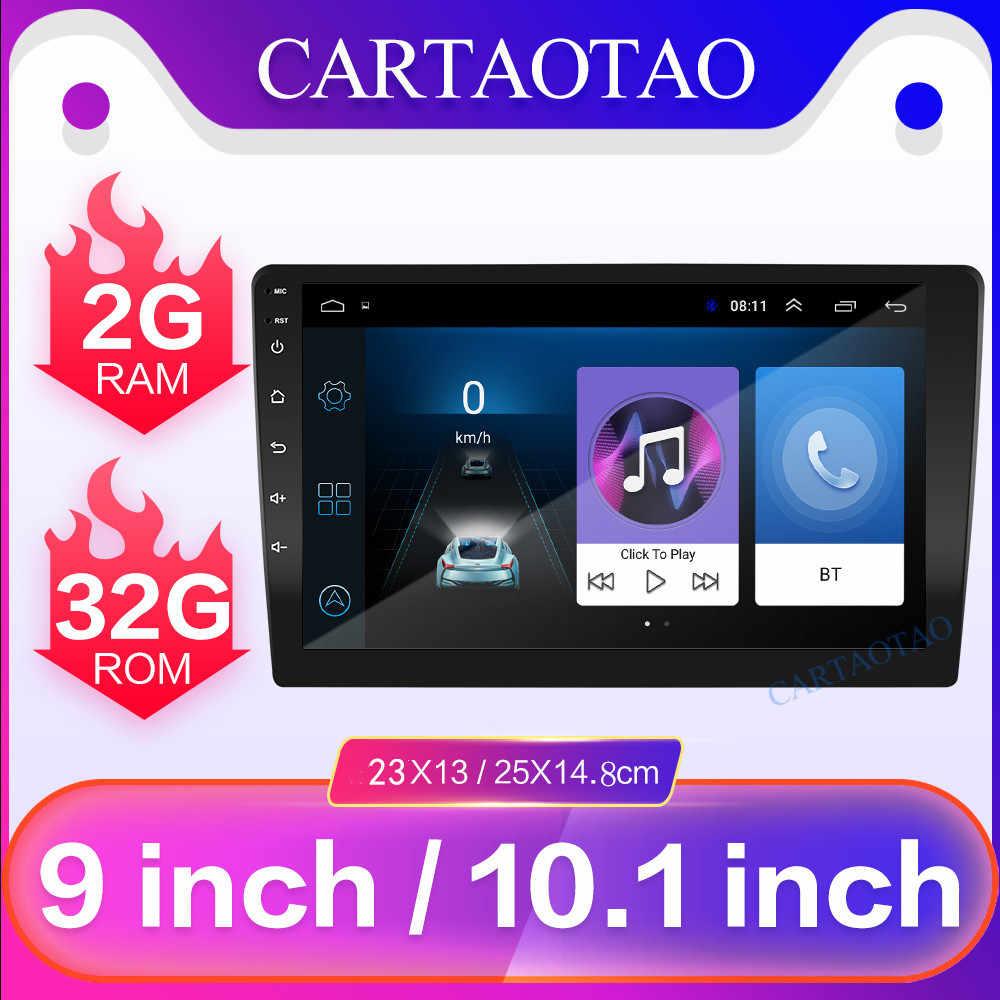 """Radio para coche Android 8,1 2.5D HD estéreo de cuatro núcleos para Radio de coche de 9 """"10,1"""" Universal Host 2 din reproductor de vídeo Bluetooth WiFi de navegación"""