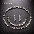 NEWBARK Brand Hot New Jewelry Sets Wheat Design Rose Gold Plated Necklacel Necklaces & Pendants Drop Earrings Bracelets