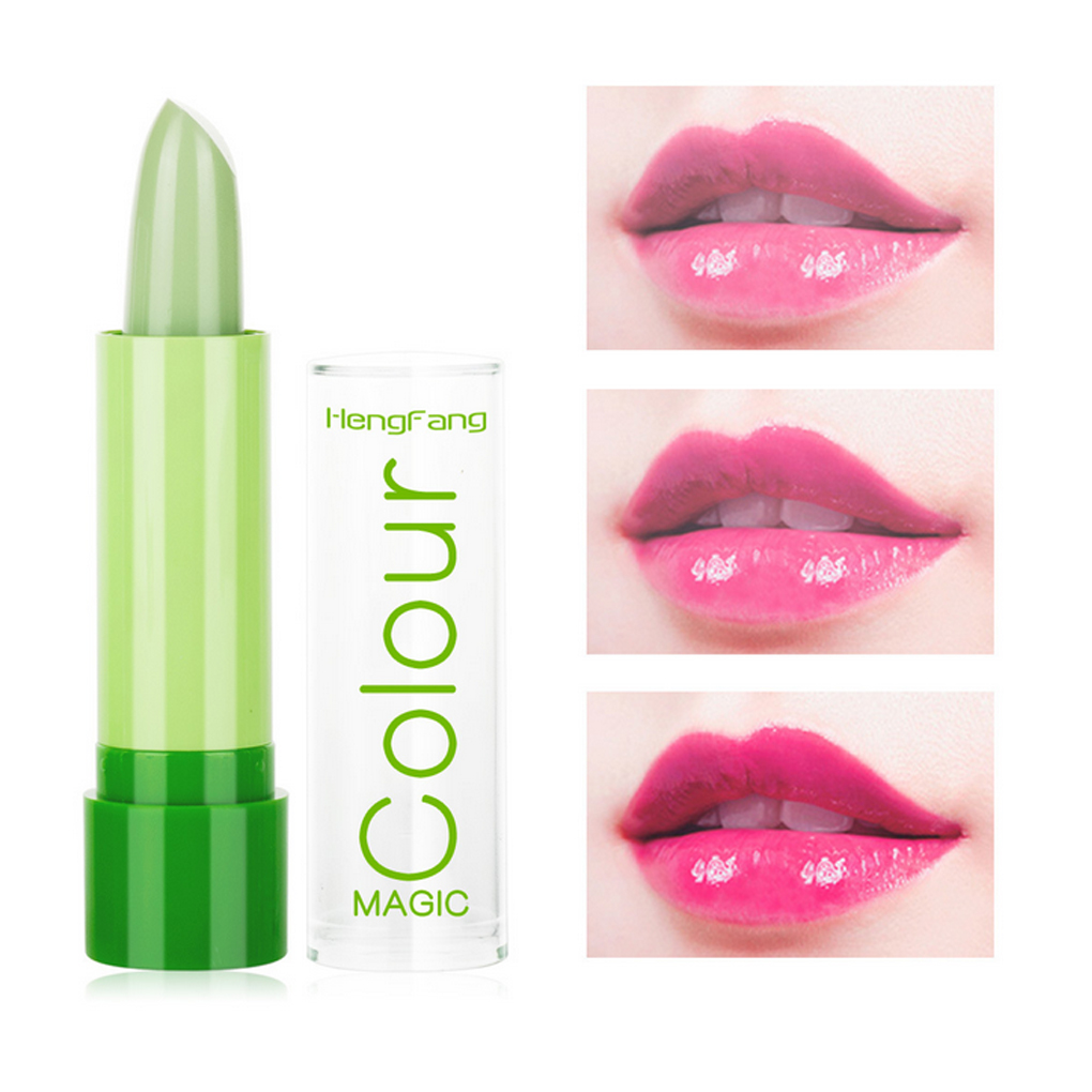 New Waterproof Lip Balm Change Color Lipstick Women Girls Lady Green to Rose Red Moisturizer Lip Balm серум за растеж на мигли
