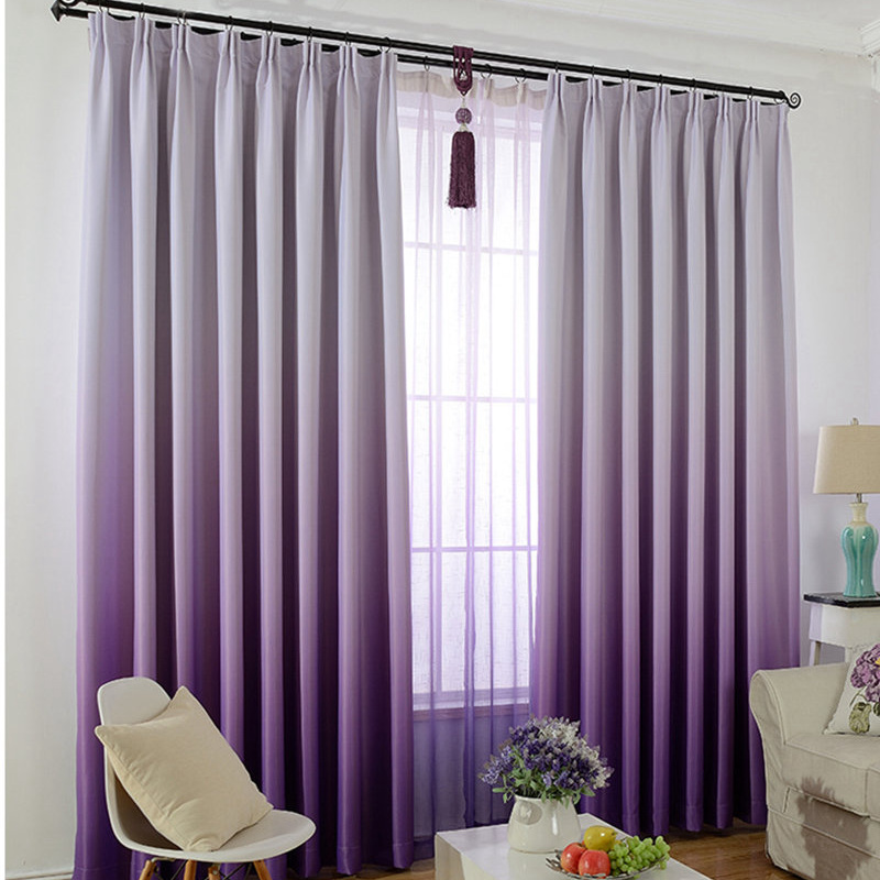 Modern Gradient Blackout Curtains For Living Room Violet Curtain Solid Pink Window Tulle Shading Bedroom HC063 30 In From Home Garden On