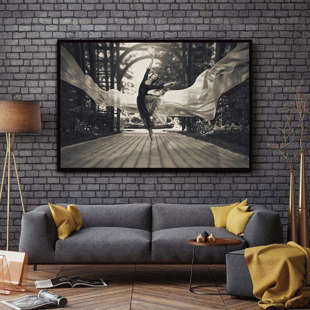 Nordic Picture wall art Black and white Dancer Figure canvas painting decoration for the living room Without Frame morden print
