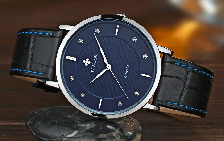 New Top Brand Men Sports Watches Men's Quartz Ultra Thin Clock Genuine Leather Strap Casual Wrist Watch Male Relogio Waterproof 9