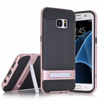 2017 new cellphone cases for Samsung Galaxy S7 edge,30pcs/lot,fiber carbon slim kickstand for Glaxy S7 edge case,free shipping