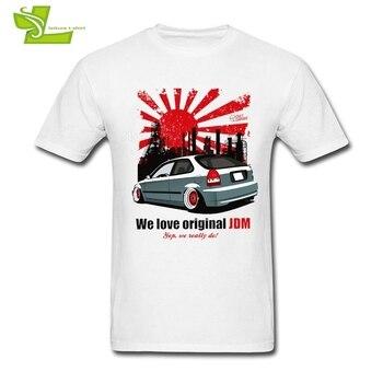 우리는 원래 JDM 성인 T 셔츠를 사랑한다 유행 정상적인 느슨한 정상 남자의 짧은 소매 O 목 Tee 아빠 새로운 도착 의류 JDM