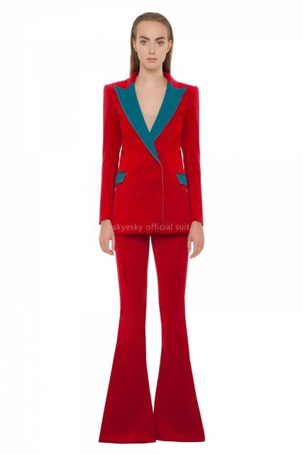 hot women suit new Pants suit Women Ladies Formal Business Office 2 Piece Jacket+Pants Suits Custom Made