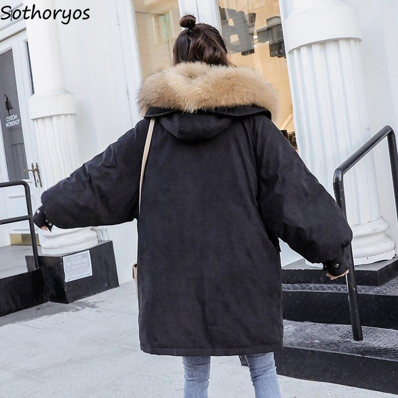 Dames Simple Capuchon Zipper Hiver Femmes allumette Tout Manteaux Parkas black Outwear Beige 2018 Élégantes Loisirs Épais gray Longue red Solide Poches À nZFwgqA