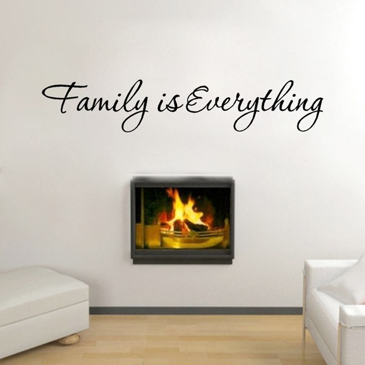 New arrival diy family everything removable art vinyl quote wall sticker mural home decor drop - Drop shipping home decor plan ...