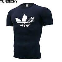 2019 neue mode casual kurzarm T-shirt, gym schwarz druck T-shirt für männer muscle strumpfhosen fitness T-shirt