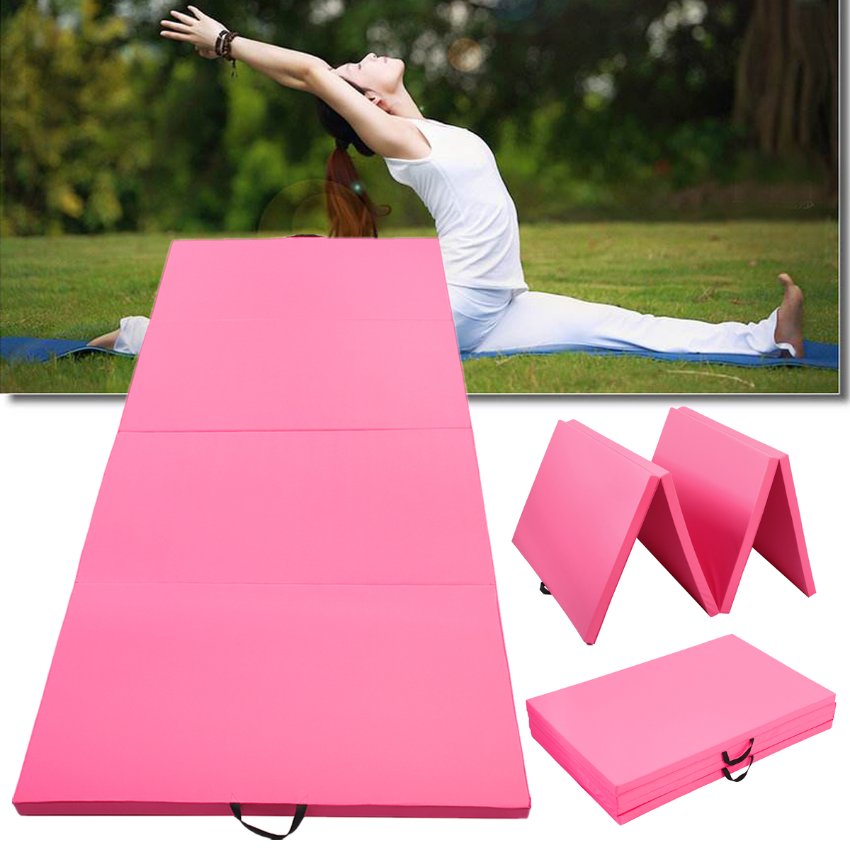 118x47x1.96inch Folding Gymnastics Mat Yoga Mat Gym Exercise Pad Blankets Mat for Indoor Training Body Building 180x60x5cm folding panel gymnastics mat gym exercise yoga mats pad yoga blankets for outdoor training body building