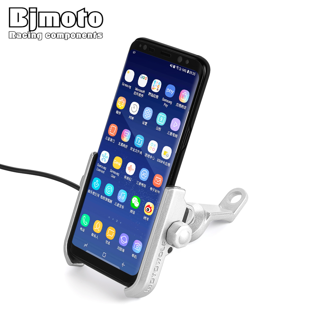 BJMOTO Universal Motorcycle Phone Holder Stand 360 Rotating Moto Mobile Support for iphone X 7 8 Plus S9 S8 S7 Cellphone BracketBJMOTO Universal Motorcycle Phone Holder Stand 360 Rotating Moto Mobile Support for iphone X 7 8 Plus S9 S8 S7 Cellphone Bracket