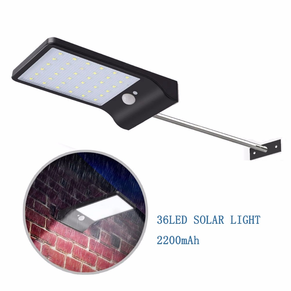 LED Solar Light Outdoor Solar Lamp With Motion Sensor Solar Powered Waterproof Wall Light For Garden Yard Path Decoration
