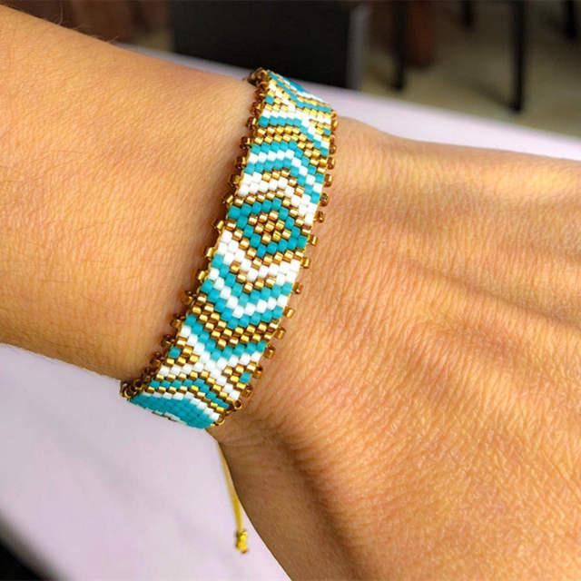Go2boho Pulseras Evil Eye Bracelet Perles MIYUKI Delica Bracelet Insta Fashion Jewelry Bohem Bileklik 2019 Women Handmade Gift
