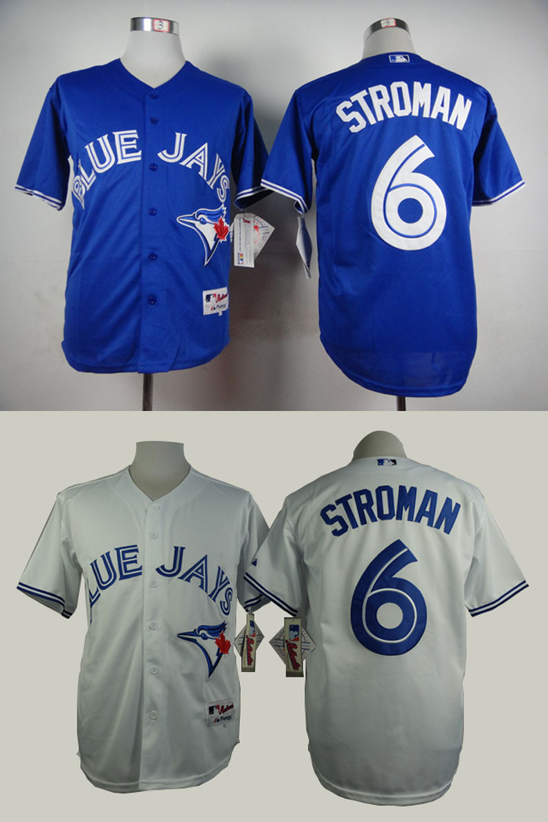 346e6ca70 ... toronto blue jays 6 marcus stroman authentic baseball jerseys  embroidery stitched onfield home color