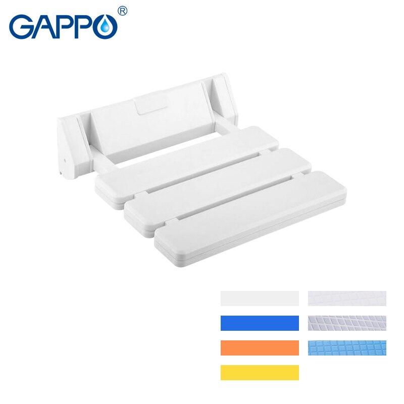 Angemessen Gappo Wand Montiert Dusche Sitze Kunststoff Klappstuhl Bad Hocker Taburete Durable Entspannen Stuhl Wc Bank Für Dusche