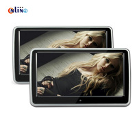 2 Pieces 10.1 inches 1024*600 Car Headrest Monitor DVD Player Built in Hitachi Lens USB SD Port FM TFT HD LCD Touch Screen