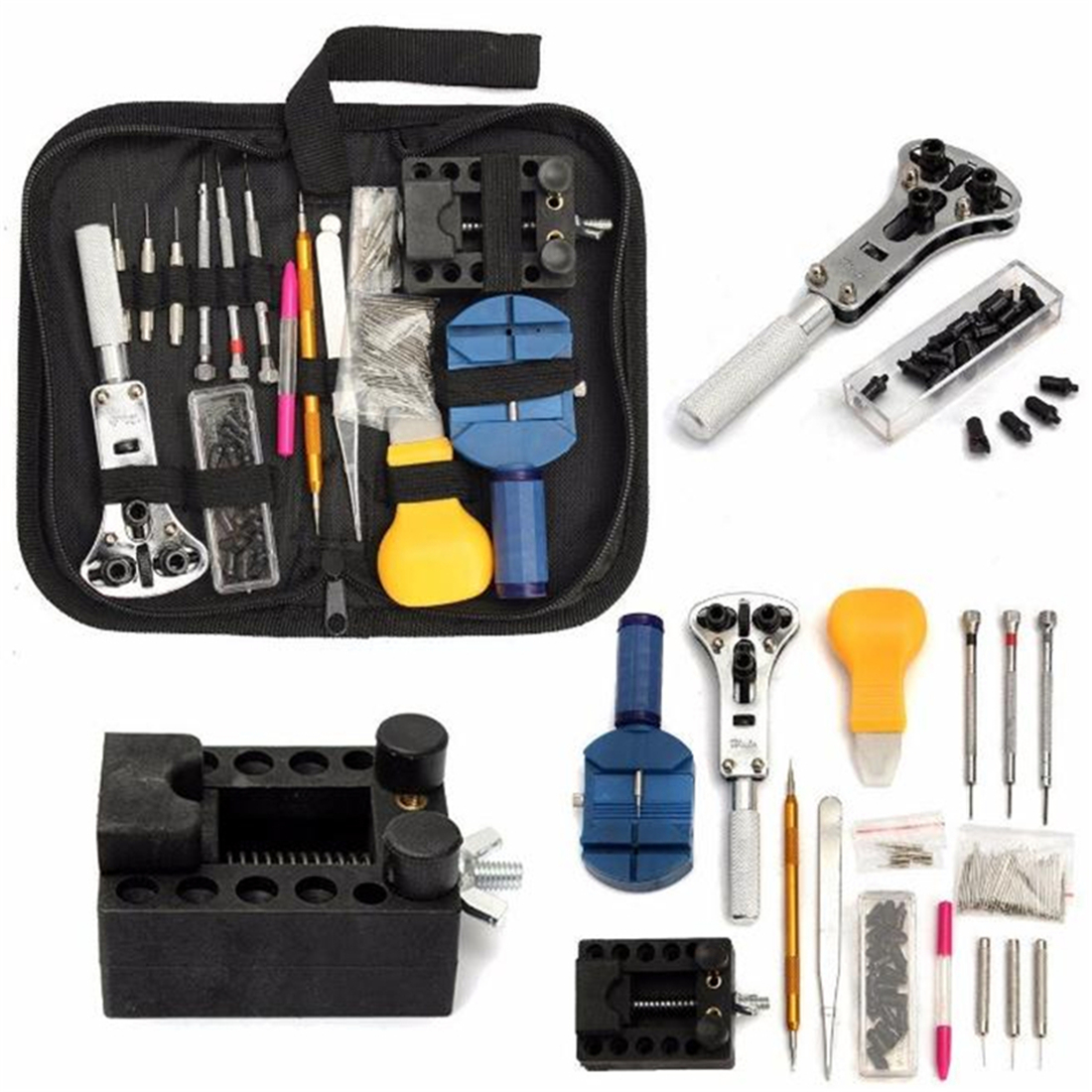 b79aaf24a21 100% brand new and high quality. Features  This high quality watch repair  tool kit great for starting professional watch repair. Many of the tools  are ...