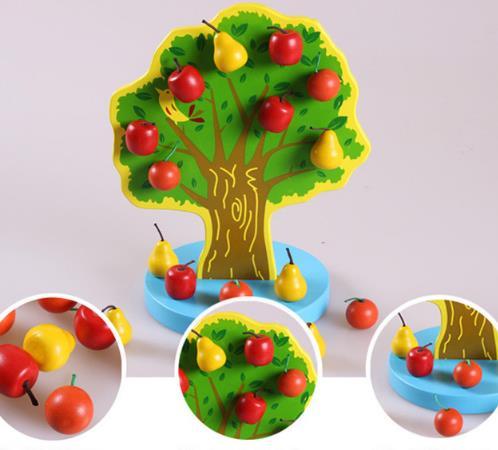 Beautiful Wooden Magnetic Fruit Wooden Tree  Montessori  Toys Montessori Chlidren Gift Montessori Materials Magnetic Apple Pear