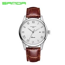 2017 New Women Men Watch Quartz Luxury Lovers' SANDA Watches Men Classic Date Waterproof Male Wristwatch Relogio Masculino