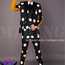 S-5XL, новинка, мужской костюм для выступлений, пиджак, мужская мода, тонкий, GD 2 PM, DJ, черный, белый, желтый, костюм с мозаичным рисунком, пальто, костюмы певицы