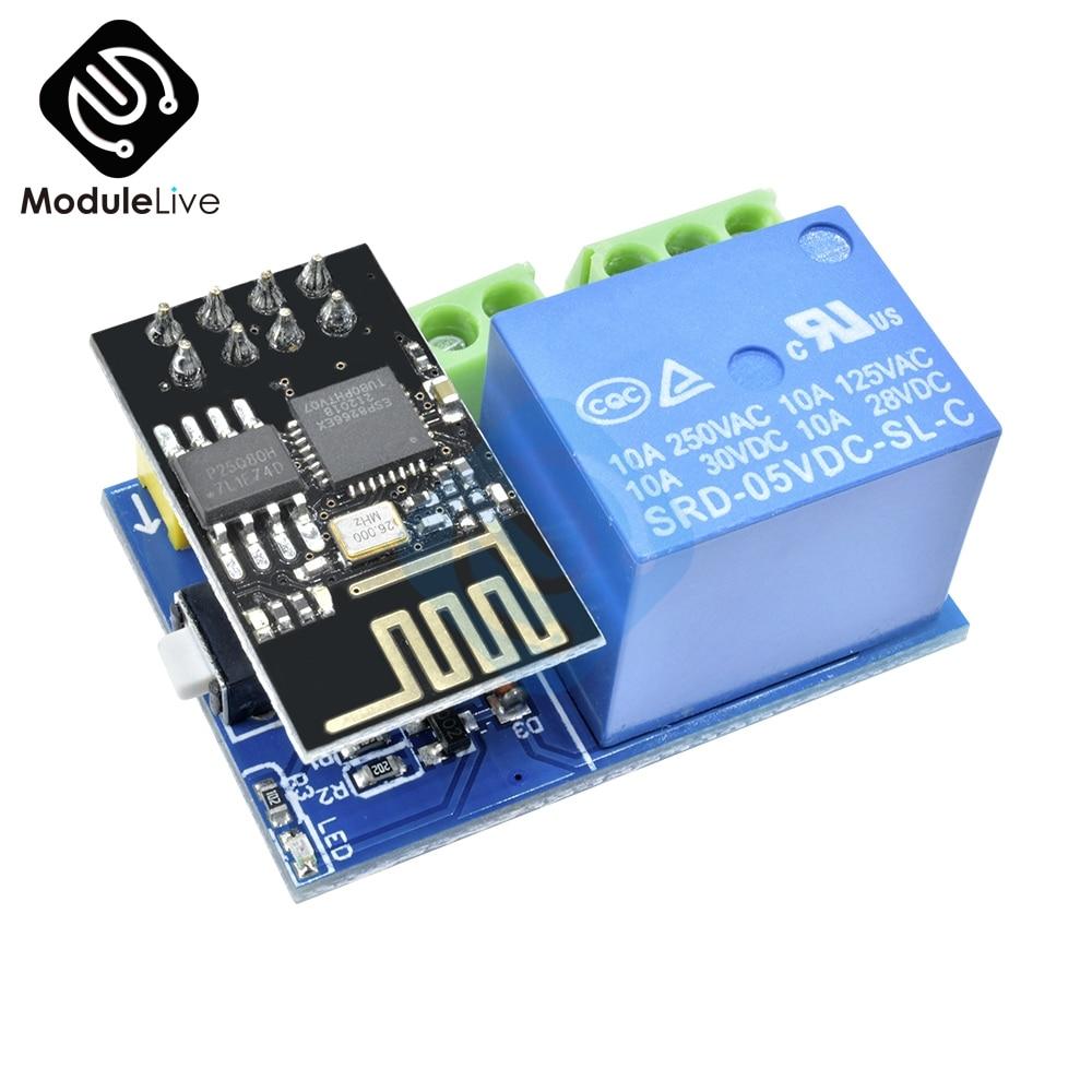 Diymore 5V ESP8266 ESP-01 Wifi Relay Module App Remote Control IOT Switch ESP01