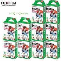 100% Оригинал Fujifilm Fuji Instax Mini 8 Фильм Блан 10 шт. Фото Бумага для Polaroid 7 s 8 90 25 55 Доля СП-1 Мини Мгновенный Камеры