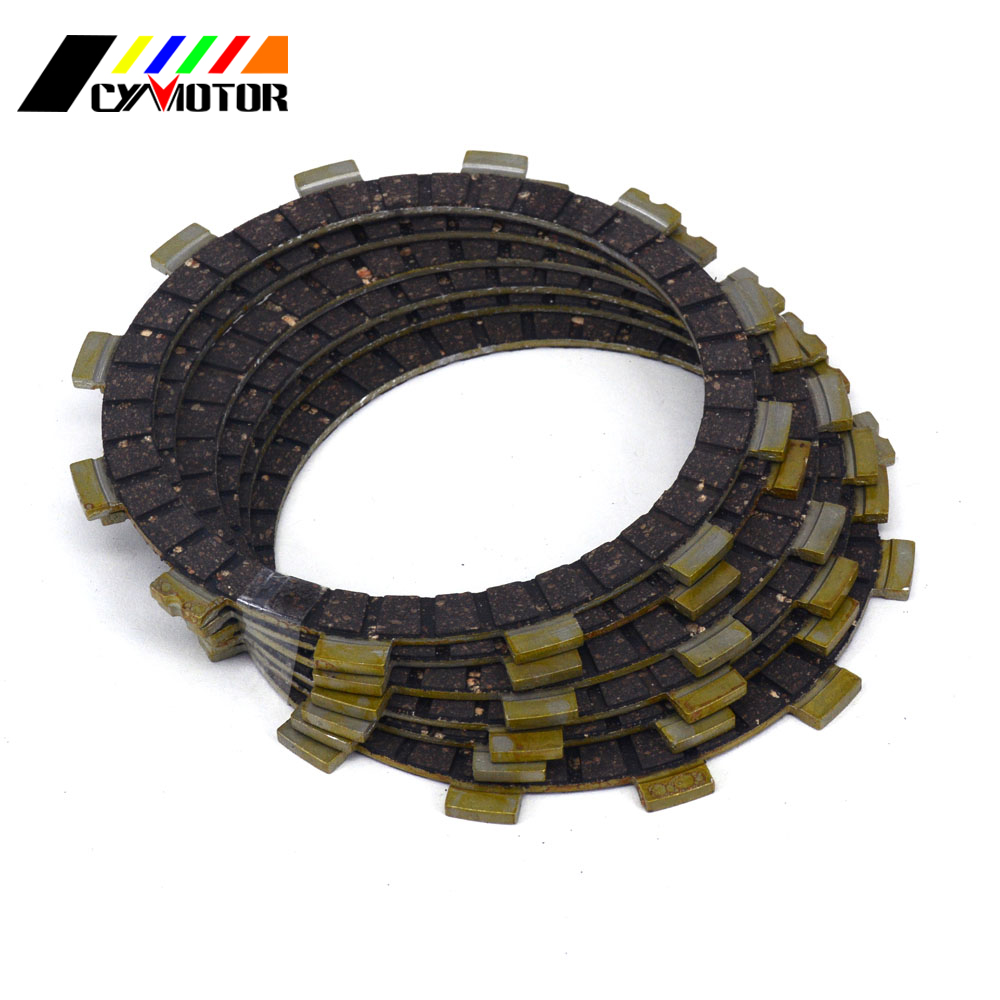 6PCS Motocycle Clutch Friction Plates Disc Set For SUZUKI RM RG TS TV DS DF <font><b>DR</b></font> RV SP LT 100 125 185 <font><b>200</b></font> 230 250 R S Z E SE image