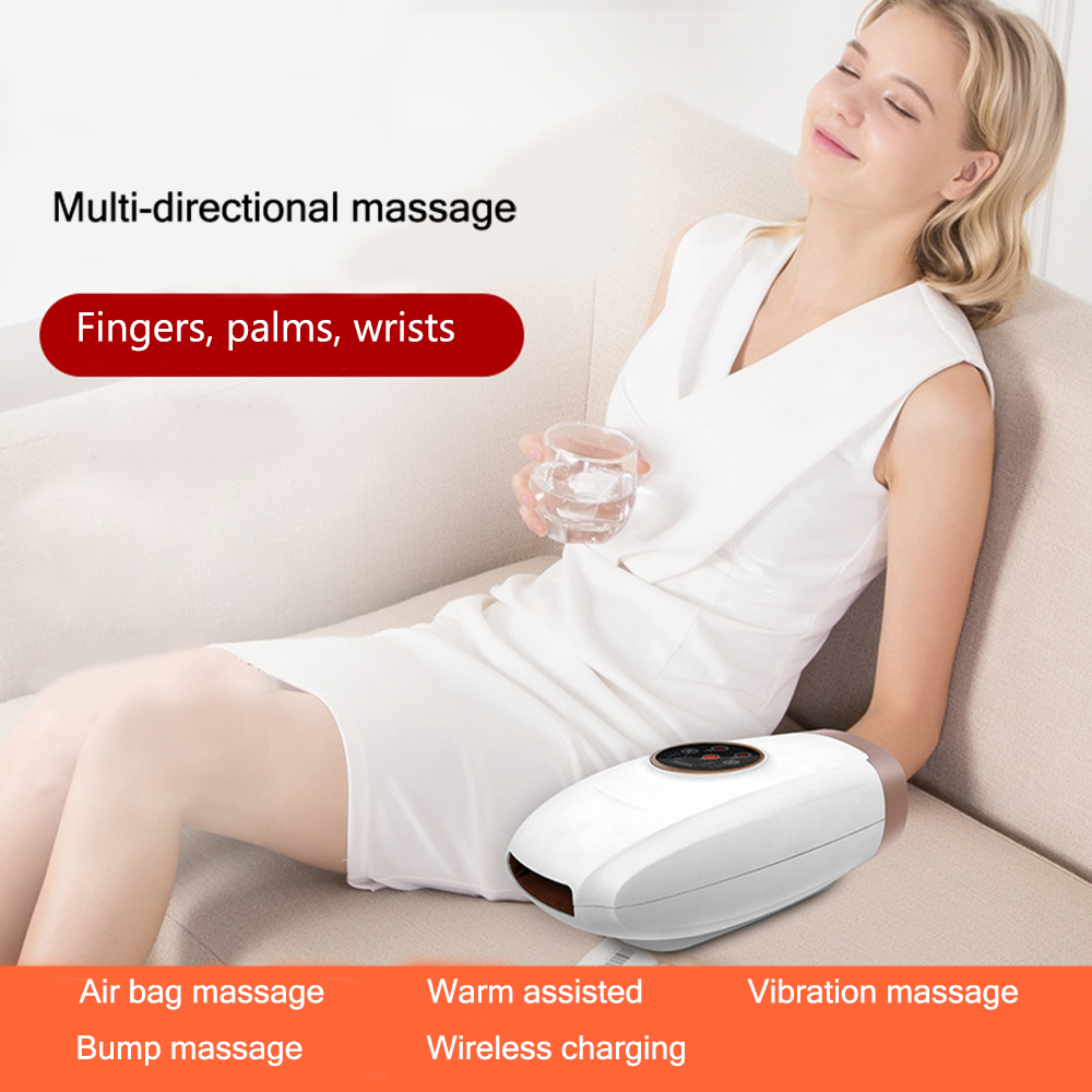 Electric Acupressure Palm Hand Massager Protector hot compress massage Relax Tools Finger Spa Numbness Pain Relief