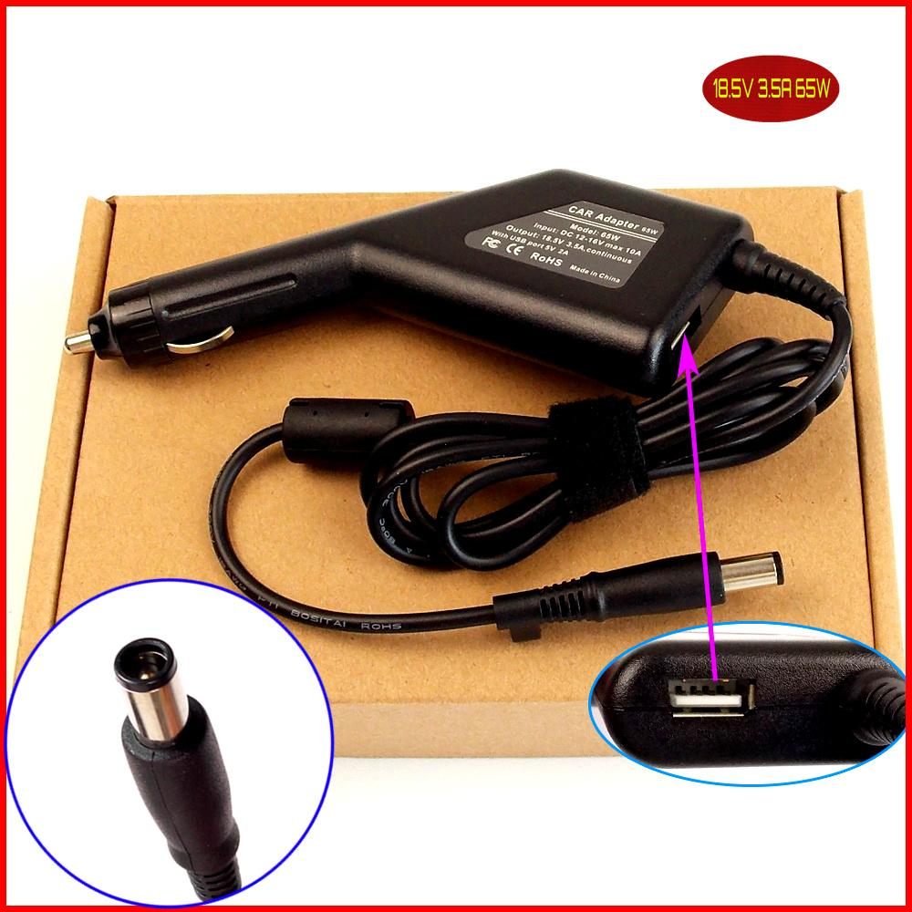 Laptop Accessories Laptop Dc Power Car Adapter Charger 18.5v 3.5a 65w Usb Port For Hp Elitebook 2560p 2530p 2730p 6930p 8730w 8530p 8530w