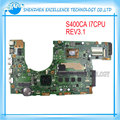 Оригинальный Ноутбук Материнская Плата Для ASUS S400CA S500CA S400C S500C Mainboard REV3.1 I7 4 ГБ USB 3.0 DDR3 Испытано ОК