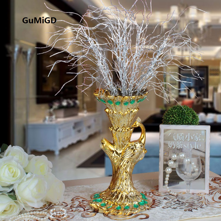 wedding gift peacock flower vase European coffee table ...