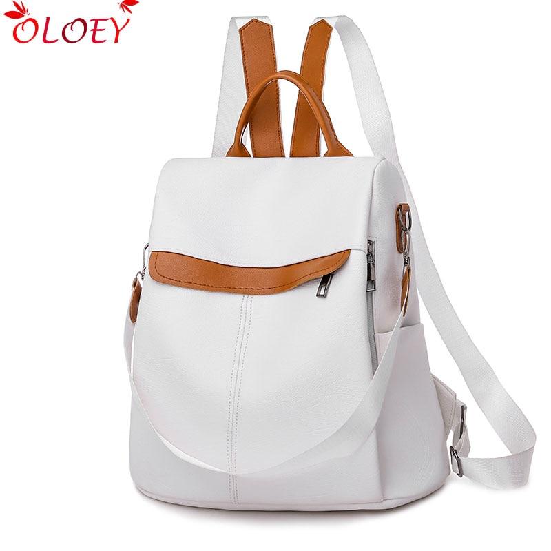 2019 New Brand Designer Leather Ladies Backpack Wild Quality Anti-theft Bag Ladies Teen Ladies Travel Bag Luxury Backpack Mochil