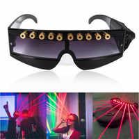 JSHFEI 赤色レーザーメガネステージパフォーマンス DJ クラブレーザーメガネ、バーレーザーは情熱 lazer メガネレーザーポインター