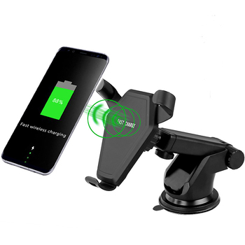 Wireless Mobile Phone Car Charger Universal Mobile Phone Charging Charger Car Stand Sucker Car Holder for iPhone X Samsung s8 mobile phone
