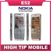 Русский поддержка клавиатуры Nokia E52 сотовой 3 Г телефон Разблокирована оригинальный 3.2MP Камера Восстановленное гарантия 1 год Бесплатная Доставка