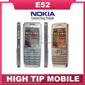 Soporte de teclado ruso nokia e52 teléfono celular 3g 3.2mp cámara abierto original reformado 1 año de garantía envío gratis