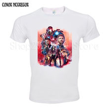 3D Print Avengers T Shirt Ironman Captain America Iron men Hawkeye Widow T-shirt Super hero Custom Made Tee Shirt(China)
