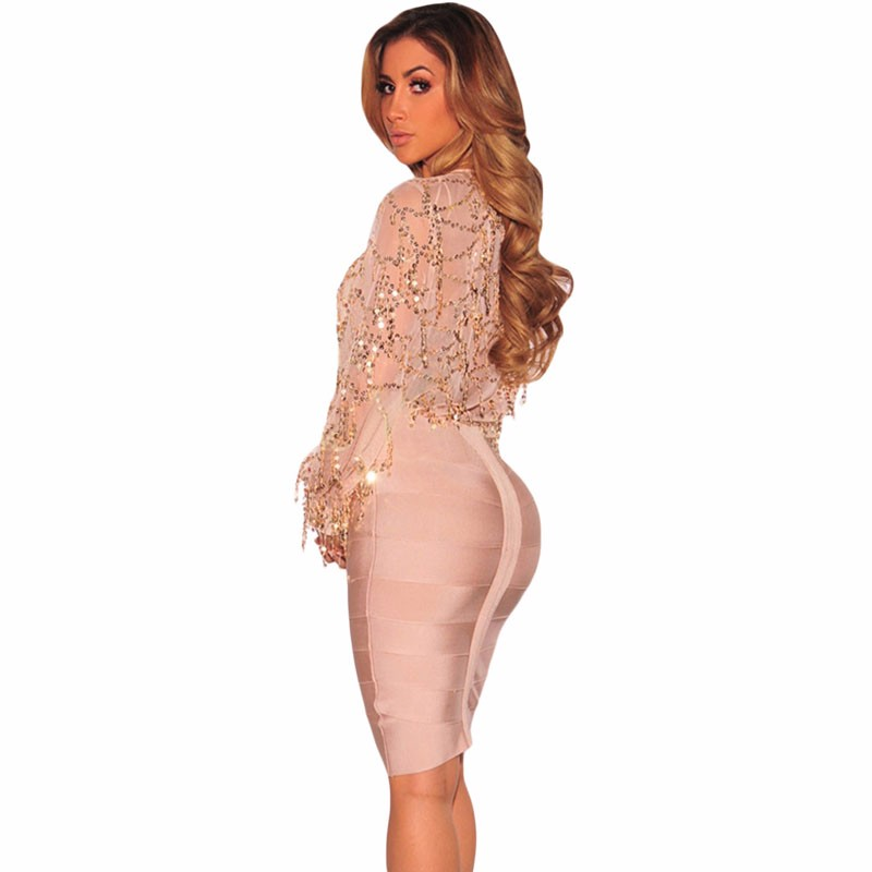 Apricot-Flowing-Sequins-Long-Sleeves-Bodysuit-LC32082-18-4